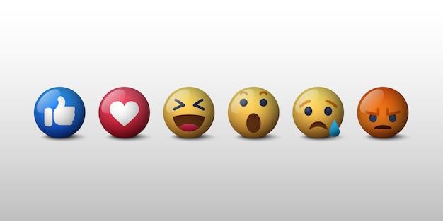 Emoji sociaal netwerk reacties icoon