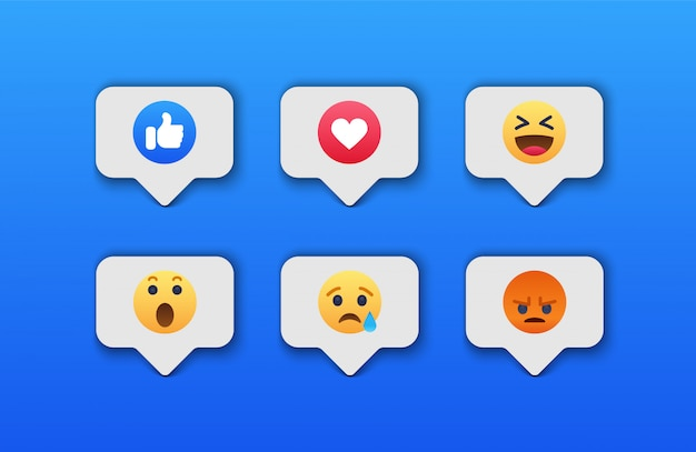 Emoji sociaal netwerkreacties pictogram