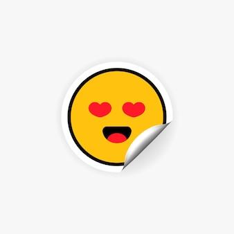 Emoji-sticker met hartogen