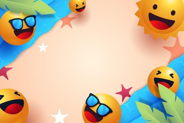 Emoji zomer achtergrond