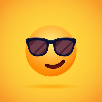 Emoticon cartoon emoji's glimlachen voor sociale media op oranje. illustratie