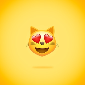 Emoticon cat in love whatsapp