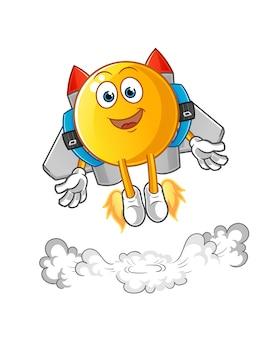 Emoticon met jetpack illustratie