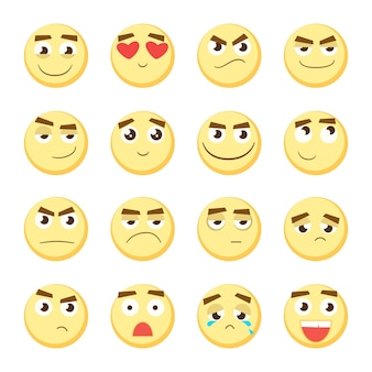 Emoticon set verzameling van emoji
