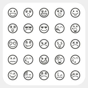 Emotie gezicht pictogrammen