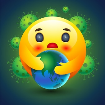 Emotie pictogram, zorgzame aarde, emotie, teken en symbool.