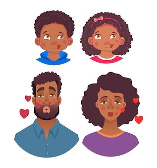 Emoties van afrikaanse mens