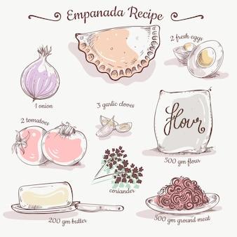 Empanada recept met ingrediënten
