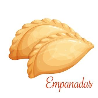 Empanadas of gebakken taartillustratie