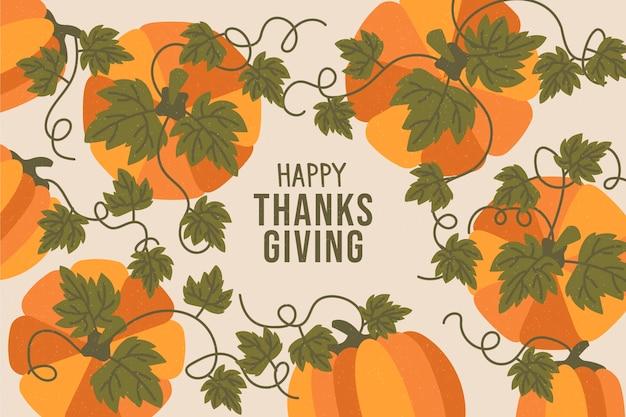 En hand getrokken thanksgiving achtergrond