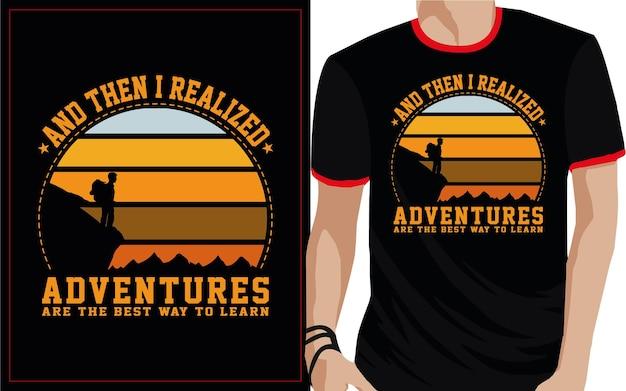 En toen realiseerde ik me dat avonturen de beste manier zijn om typografisch t-shirtontwerp te leren