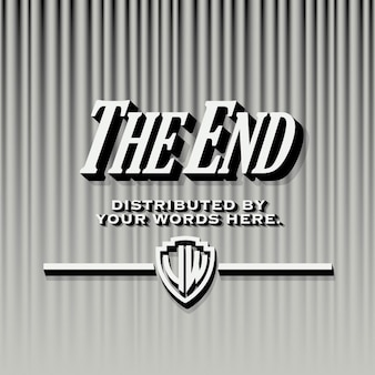 End credits template