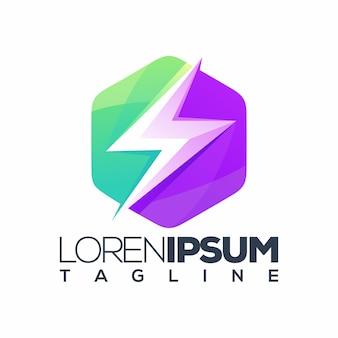 Energi paars groen logo