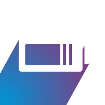 Energie batterij platte logo ontwerp vectorillustratie