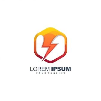 Energie bij kleur logo ontwerp