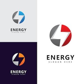Energie logo pictogram sjabloon vector ontwerp