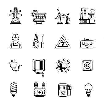 Energie pictogrammen instellen