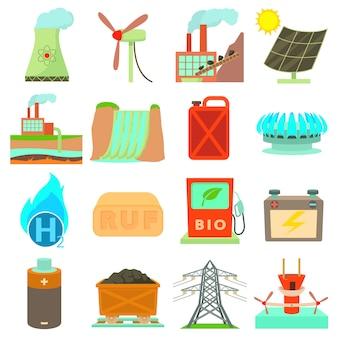Energiebronnen pictogrammen instellen