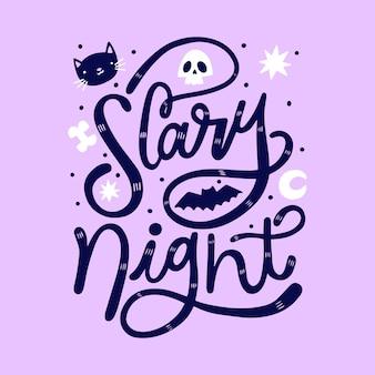 Eng nacht belettering ontwerp