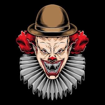 Eng rood haar clown illustratie