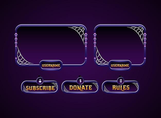 Eng violet halloween twitch-stroompanelen overlay-ontwerp