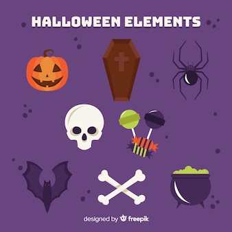Enge dieren en kwade dingen ingesteld voor halloween