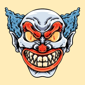 Enge glimlachende clown karakter illustratie