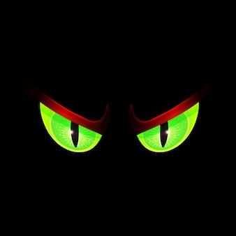 Enge groene ogen