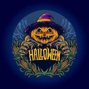 Enge halloween-pompoen