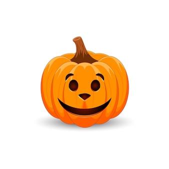 Enge oranje pompoen met hondengezicht voor uw ontwerp voor de vakantie halloween