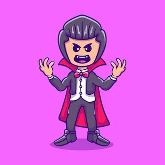Enge schattige halloween vampier dracula