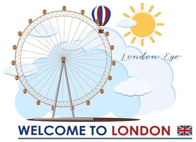 Engeland londen eye travel landmark