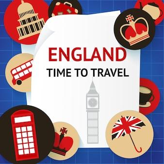 Engeland tijd om londen te reizen