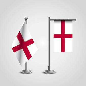 Engeland verenigd koninkrijk vlag van het land op paal