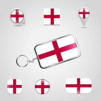 Engeland verenigd koninkrijk vlag van het land