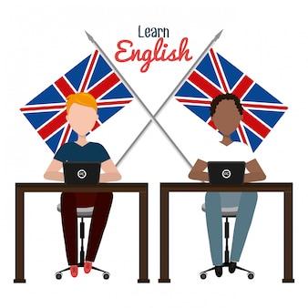 Engels ontwerp leren