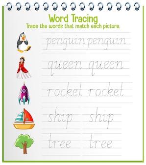 Engelse alfabet-werkbladen