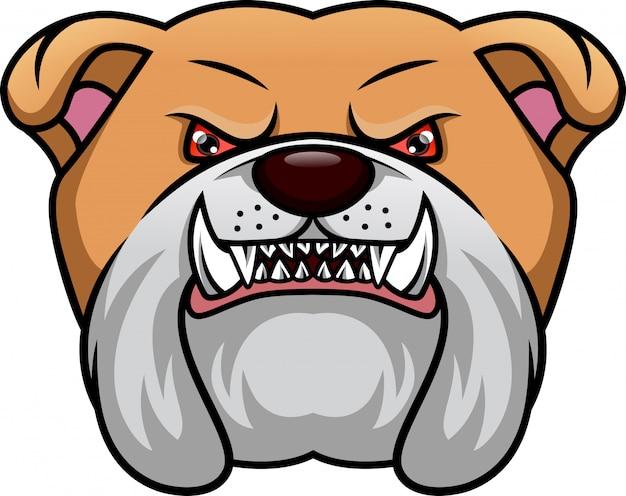 Engelse bulldog hoofdmascotte
