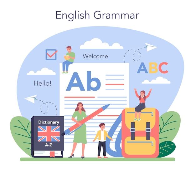 Engelse klasse concept illustratie