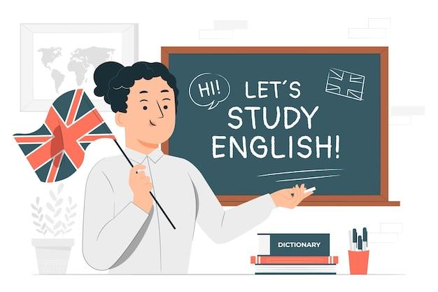 Engelse leraar concept illustratie