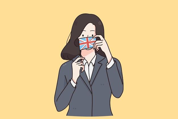 Engelse vlag en cultuurconcept Premium Vector
