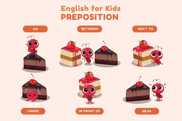 Engelse voorzetsels voor kinderen