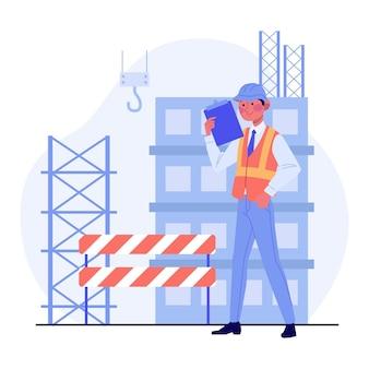Engineering en constructie illustratie