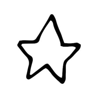 Enkel element van ster in doodle zakelijke set. handgetekende vectorillustratie voor kaarten, posters, stickers en professioneel ontwerp.