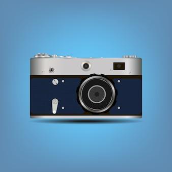 Enkele gedetailleerde camera-icoon geïsoleerd op een achtergrond met kleur
