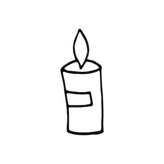 Enkele hand getekende element van nieuwjaar en xmas doodle vectorillustratie winter elementen