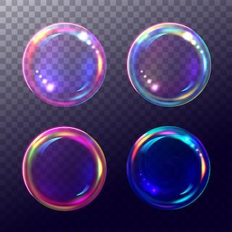Enorme set van realistische bubbels.