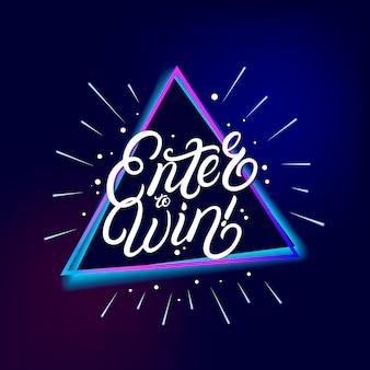 Enter om handgeschreven letters te winnen.