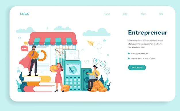 Enterpreneur webbanner of bestemmingspagina