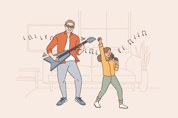 Entertainment en activiteiten met kinderconcept